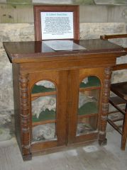 Elsdon church skull cabinet