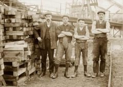 Pitmen at Netherton in 1911