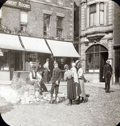 Market Place Morpeth 1900
