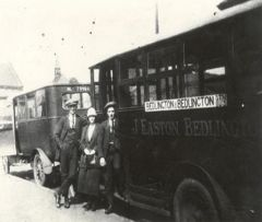 Two buses, J.Easton on the Bedlington to Bedlington Station shuttle 1926