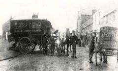 A horse-drawn bus Bedlington Station 1904