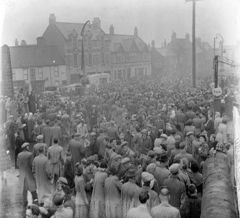 Crowds in the Market Place 1950