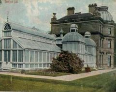 Hartford Hall showing glass conservatory 1900