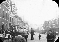 street decorated to celebrate Mafeking or Mafeking Day Morpeth.JPG