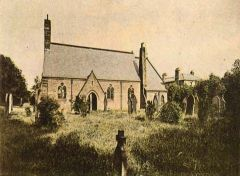 St. Paul the Aspostle Church and Vicarage, Choppington 1910.JPG