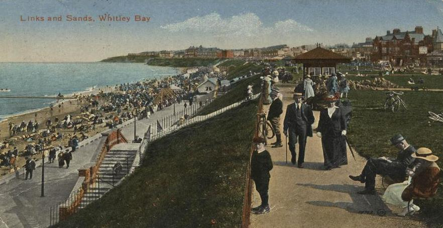 Postcard view of Links and Sand, Whitley Bay 1910.JPG
