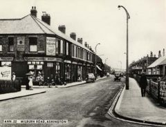 Postcard view of Milburn Road, Ashington 1930.JPG