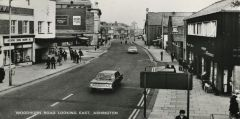 Postcard view of Woodhorn Road, Ashington. 1960.JPG
