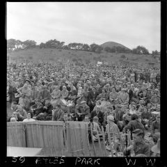 Large crowd atlee park 1950