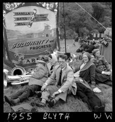 1955 Miners Picnic Blyth Banner