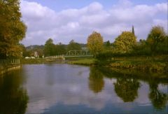The river at Morpeth, autumn 1965