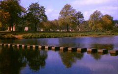 The stepping stones at Morpeth, autumn 1965