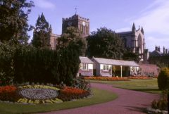 A view of Hexham Abbey, 1965