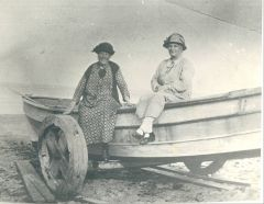 Margaret Fox Nee Thompson left unknown other Fox boat On Cambois beach