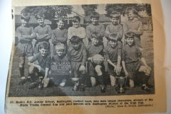 St. Bedes RC School Football Team c1966 7 newspaper