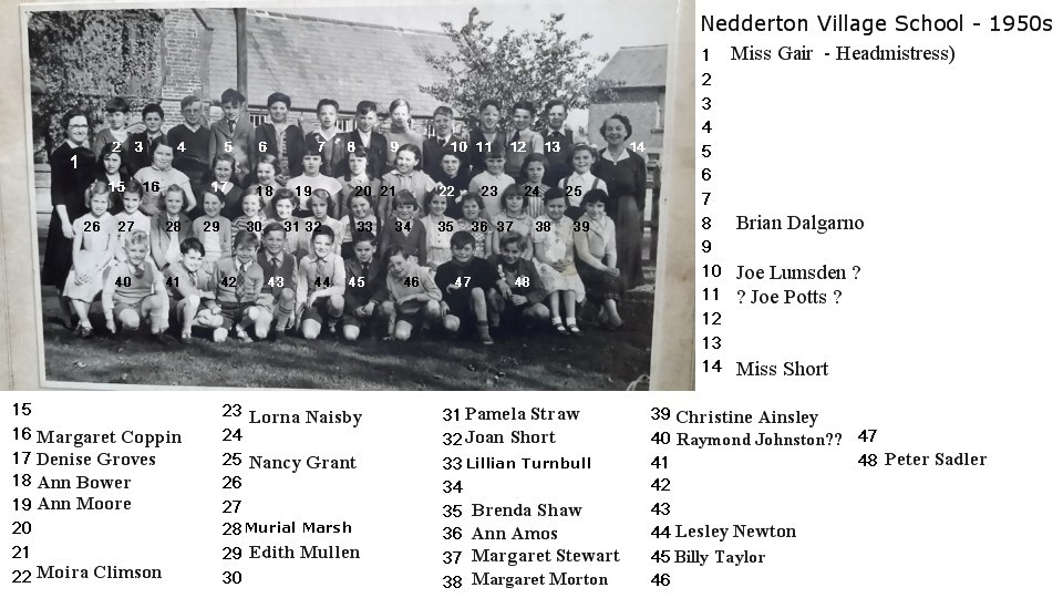 Nedderton school 195n with names2