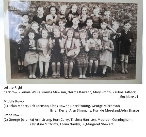 Netherton Colliery Infant School c1952 with names.jpg