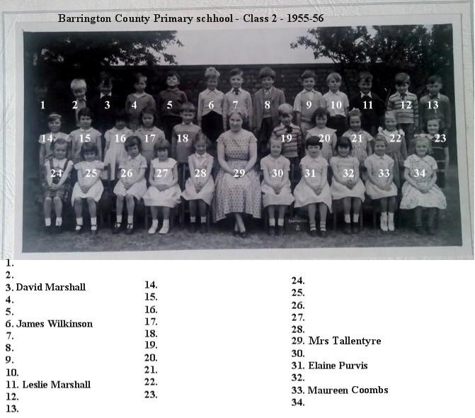 Barrington CP Class2 - 1955-56 with some names