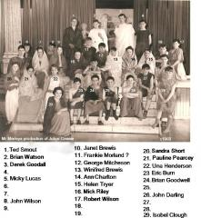 Mr Marley's Julius Ceasar production c1960 with names