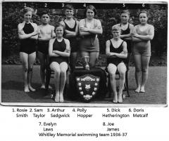 Whitley Memorial 1936-37 swimming team