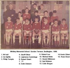 Whitley Memorial 1967-8 Football team