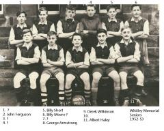 Whitley Memorial 1952-3 Football team