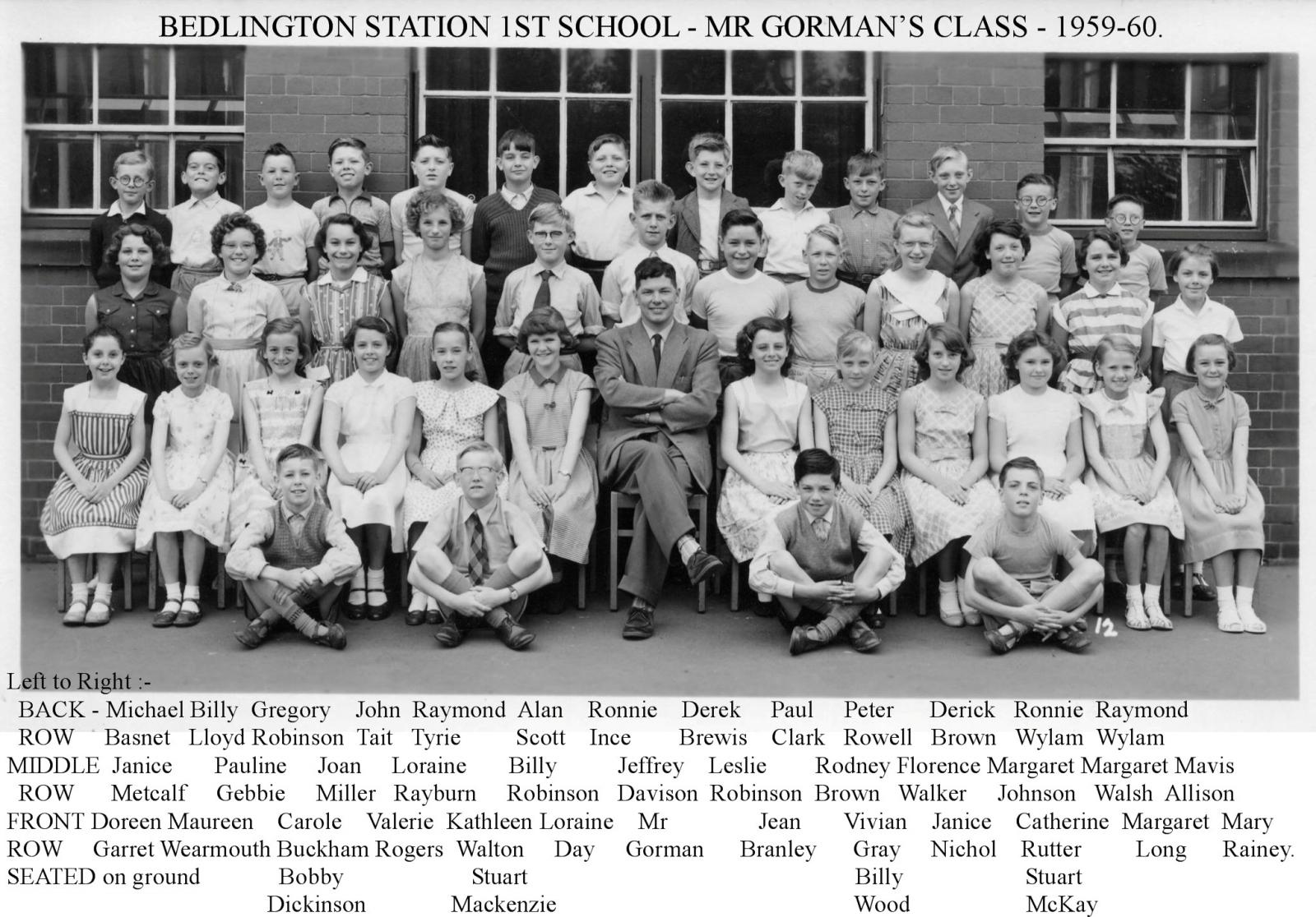 Bedlington Station1st school 1959-60 MrGormans class
