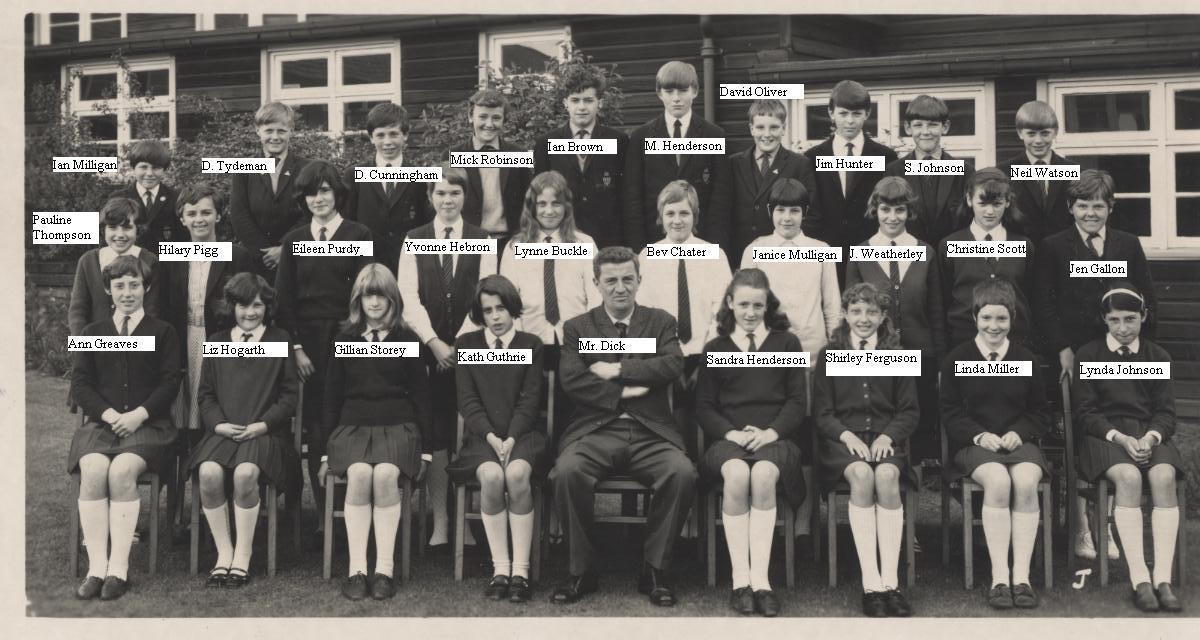 Mr Dick's class - 1971 (maybe)