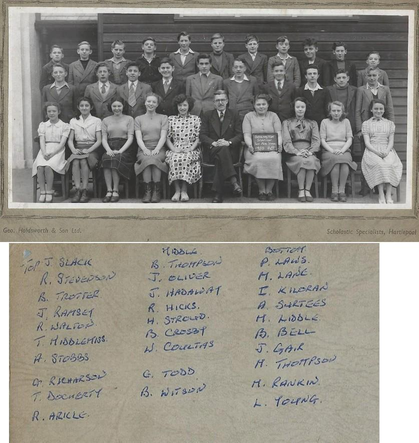 1950 Class 4B with names
