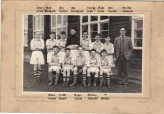 Bedlington Station Secondary Modern football team - 1957