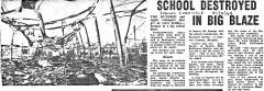 1969 Fire destroys school