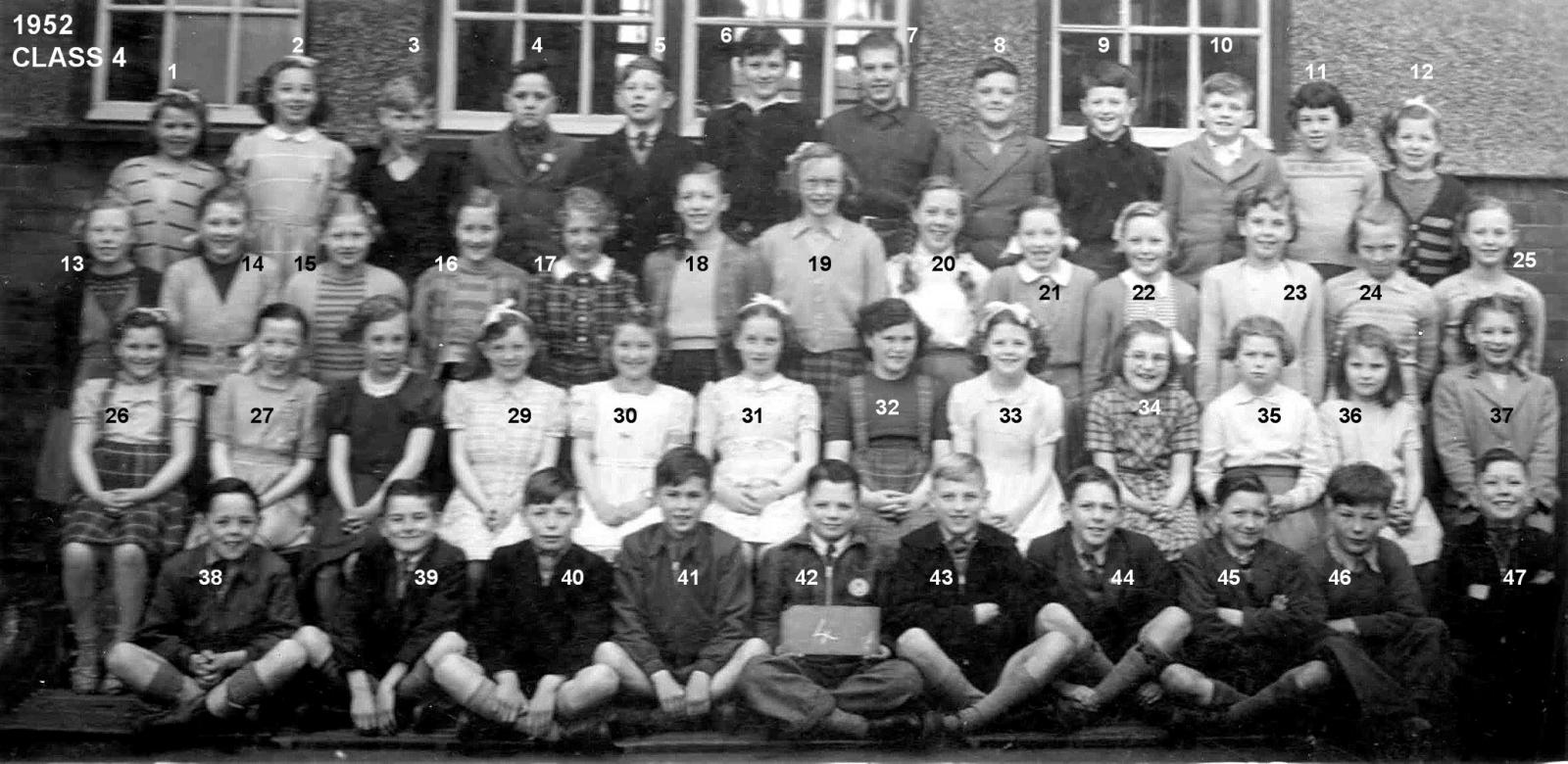 Bedlington Council Primary School (now West End) Class 4 1952.