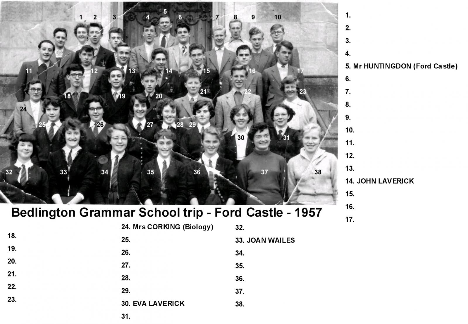 Ford Castle trip - 1957