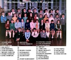 Whitley Memorial - Class 4 - 1967-68 year group