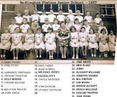 Bedlington Station Junior school - 1957 - Mrs Simpson's class.