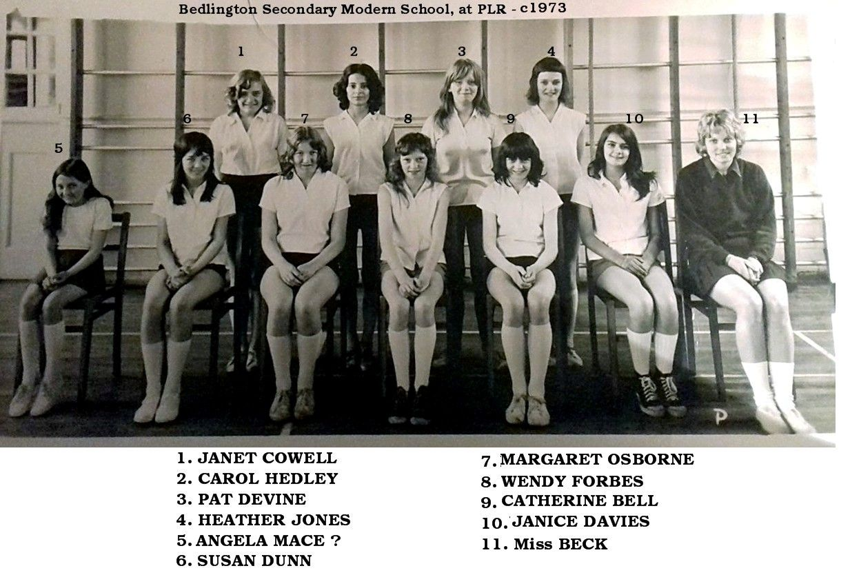 Netball squad - 1973 - at PLR