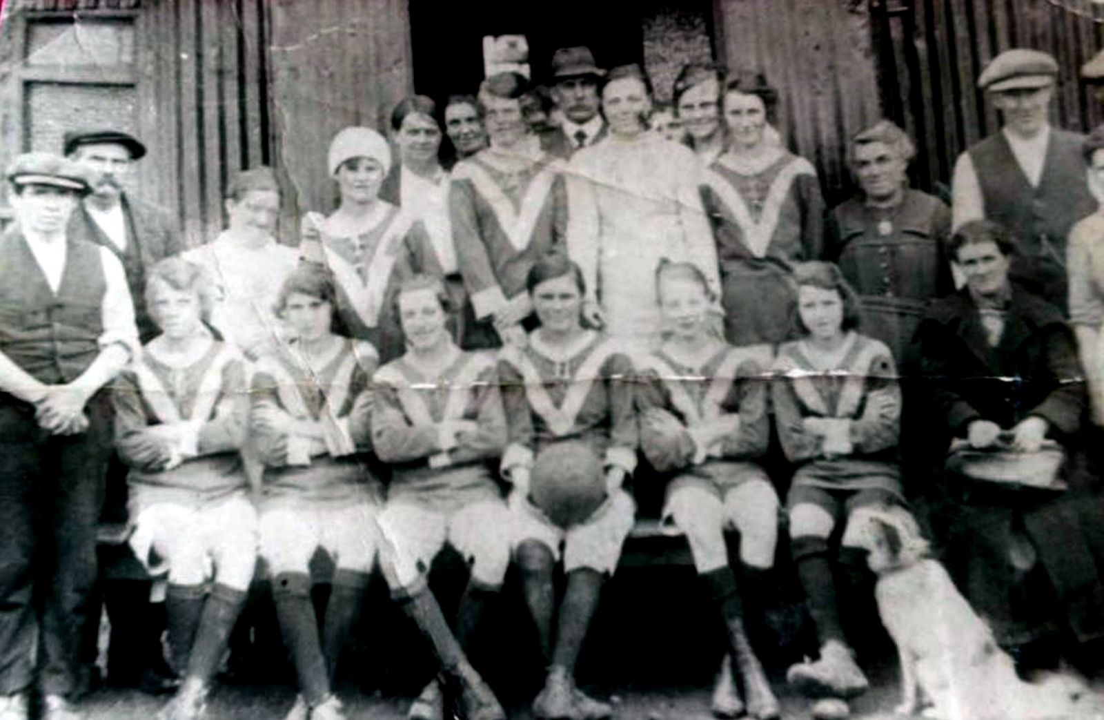Netherton Colliery Ladies football team 1920s