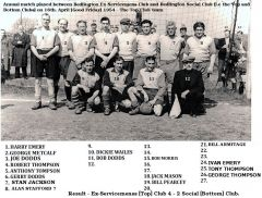 Top Club team late 1950'