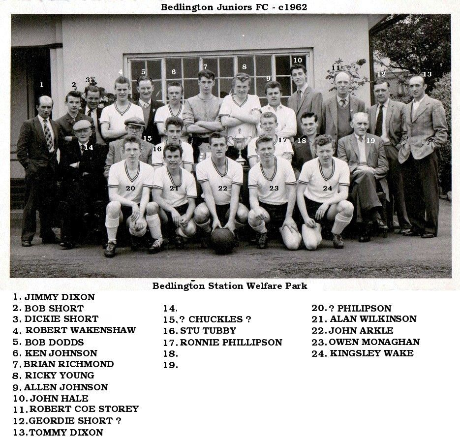 Bedlington Juniors Football team c1962