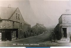 Vulcan Place - Foggon's chemist on left, Northumberland Arms on right.jpg