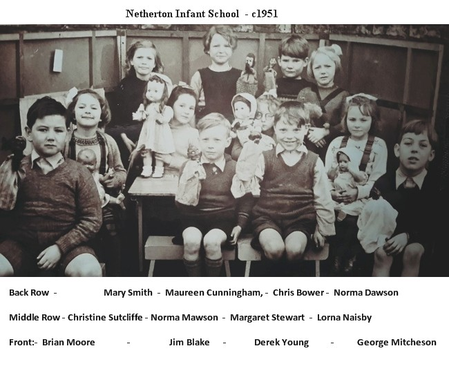 Netherton Colliery Infant School c1951 with names.jpg