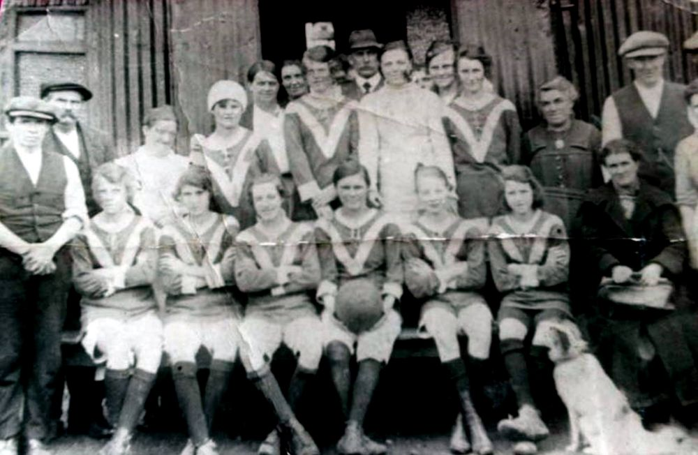Netherton Colliery Ladies football team 1920s.jpg