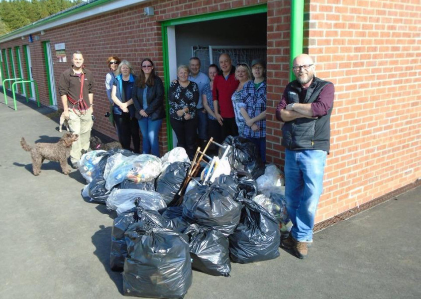 Litter-pickers spruce up their park