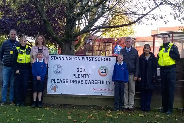New 20 mph zone outside Stannington First School