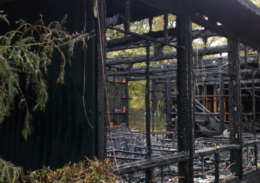 Fire destroys classrooms at school in town
