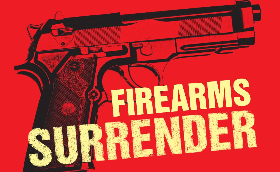 Firearms Surrender 13th-26th Nov