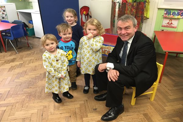 Minister Visits Childcare Partnership to See 30 Hours in Action