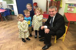Read more about Minister Visits Childcare Partnership to See 30 Hours in Action