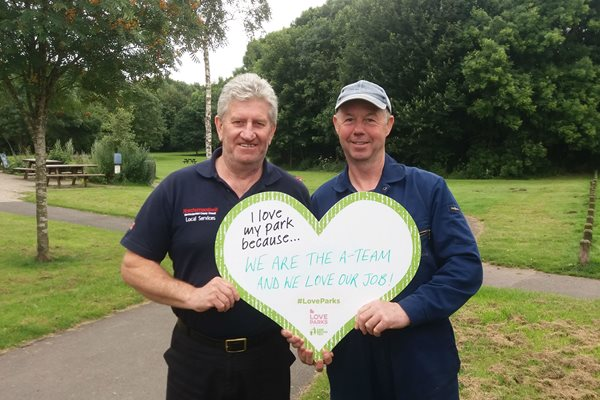 Northumberland shortlisted for its Love Parks campaign