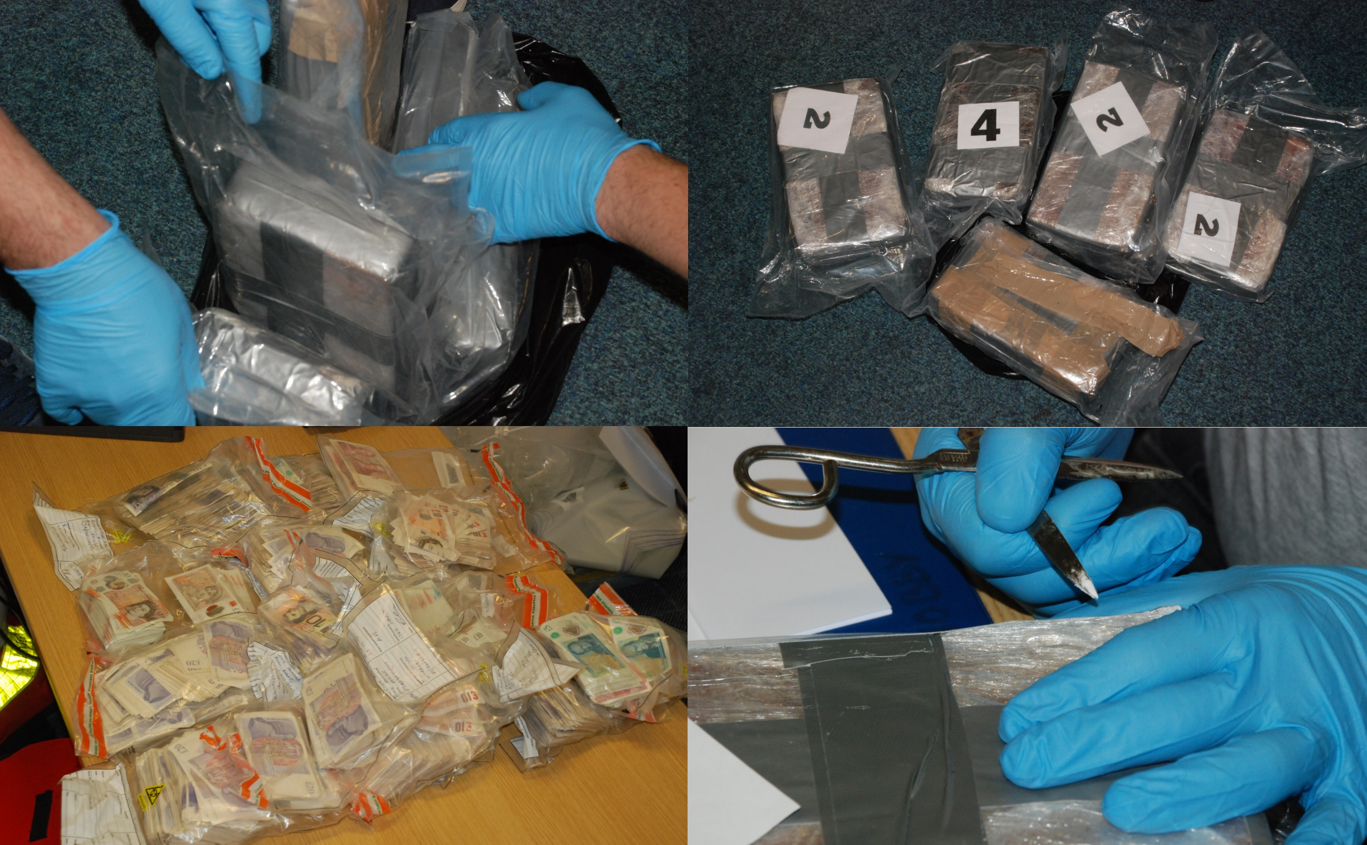 More than £750,000 in suspected Class A drugs and cash seized in raids